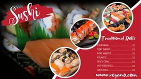 Sushi Digital Display Video Template