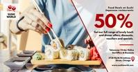 Sushi facebook post discount voucher