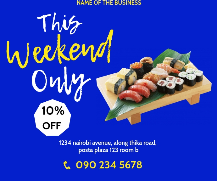 SUSHI FLYER Medium na Rektangle template