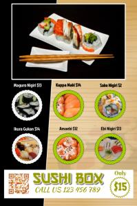 Sushi flyer for restaurant