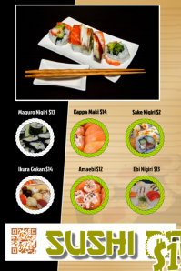 Sushi flyer for restaurant