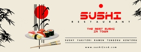 Sushi Food Facebook cover template