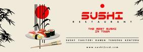 Sushi Food Facebook cover Ikhava Yesithombe se-Facebook template