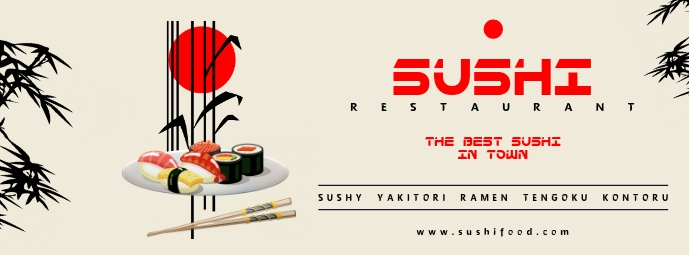 Sushi Food Facebook cover Facebook-coverfoto template