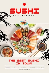 Sushi Food Poster template
