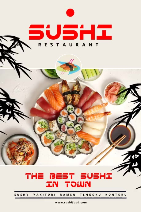 Sushi Food Poster Plakat template