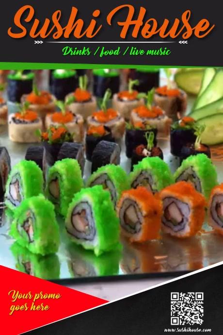 sushi house Plakat template