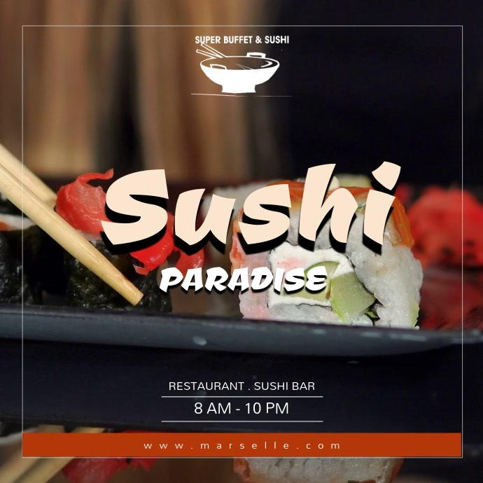 Sushi Instagram Video Template Instagram-bericht