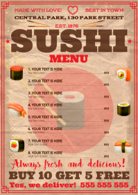 SUSHI MENU A4 template