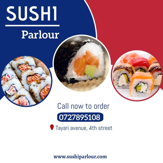 Sushi parlour Instagram-opslag template