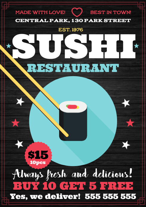 SUSHI POSTER A4 template