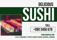 SUSHI RESTAURANT FLYER Carte postale template