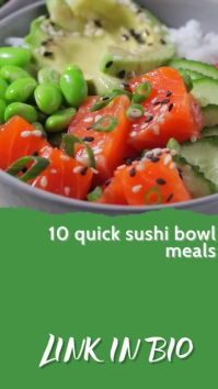 Sushi Restaurant Food Blogger Video Ad Instagram-verhaal template