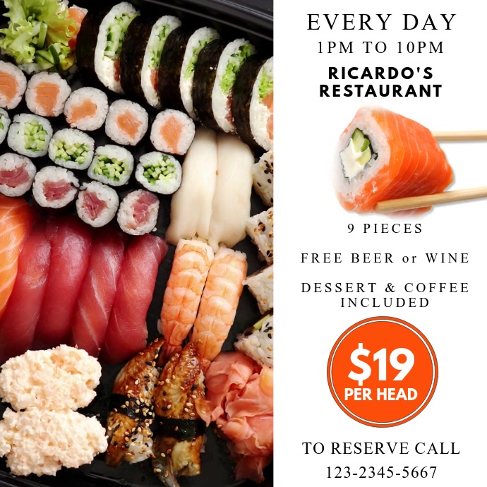 Sushi Restaurant Instagram Video Template