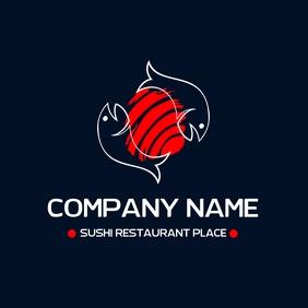 sushi restaurant logo template 徽标