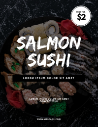 Sushi Restaurant Offer Flyer Design Template