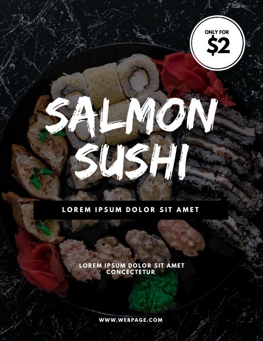 Sushi Restaurant Offer Flyer Design Template