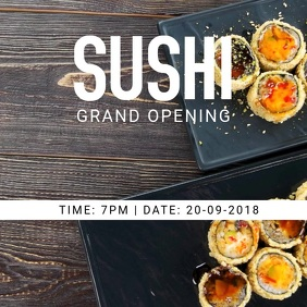 Sushi Restaurant Opening Flyer