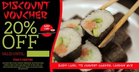 Sushi Restaurant Video Promo Ad Template Facebook Shared Image