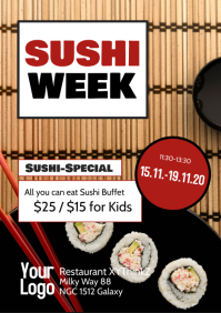 Sushi Special Week Restaurant Menu Bar Bistro