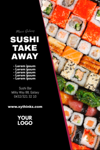 Sushi Take Away Flyer Poster Advert Poster ad