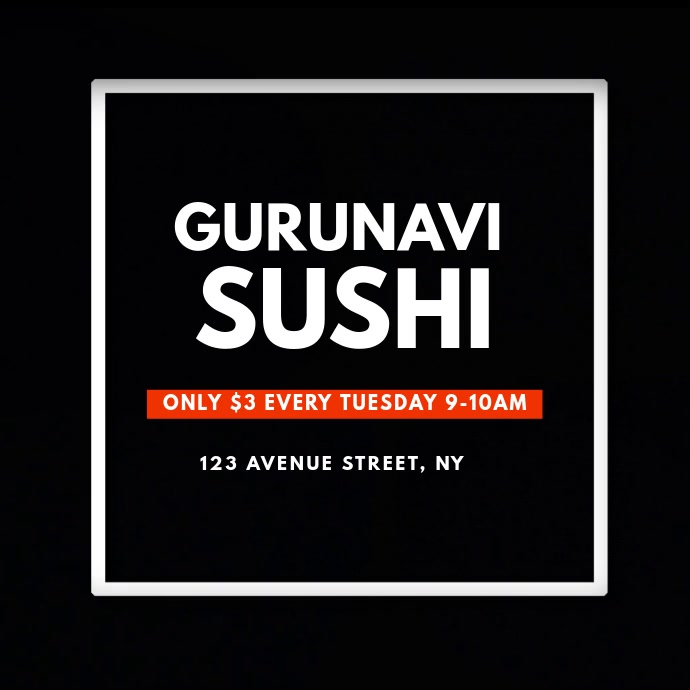 Sushi Video Ad Template instagram