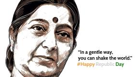 Sushma Swaraj Republic India Poster