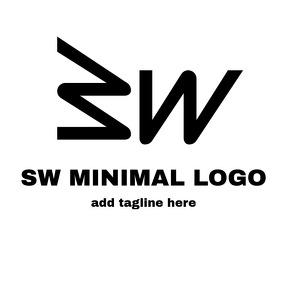 SW alphanumeric logo