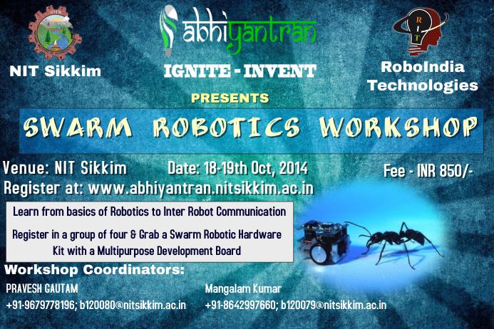 Swarm Robotics Workshop Template Postermywall