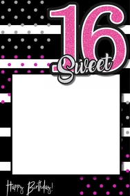 Sweet 16 Party Prop Frame