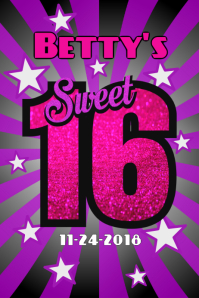 Customizable Design Templates For Sweet 16 Postermywall