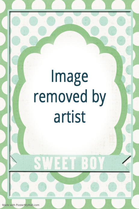Sweet Baby Boy Room Poster Sign Baby Gift Personalized