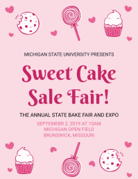 Sweet Cake Bake Sale Flyer Template