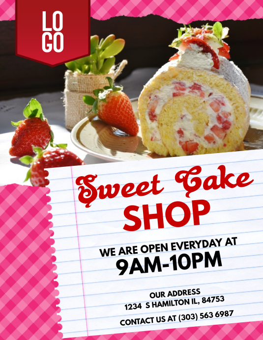 Sweet Cake Shop Flyer