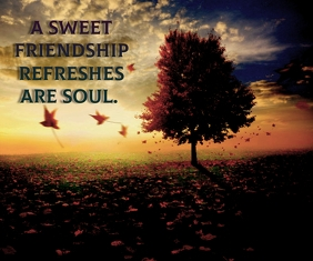 sweet friendship quote template Großes Rechteck