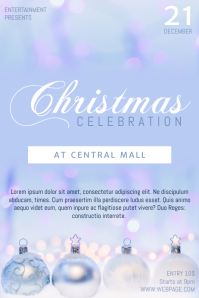 Sweet Light Free Christmas Celebration Party Flyer Template