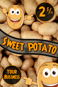 Sweet Potato Poster template