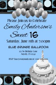 Sweet Sixteen Birthday Party Invite