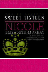 sweet sixteen invitations templates