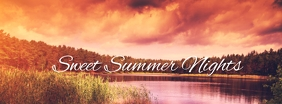 Sweet Summer Nights รูปภาพหน้าปก Facebook template