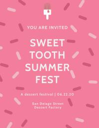 Sweet Tooth Summer Fest Flyer Template Рекламная листовка (US Letter)