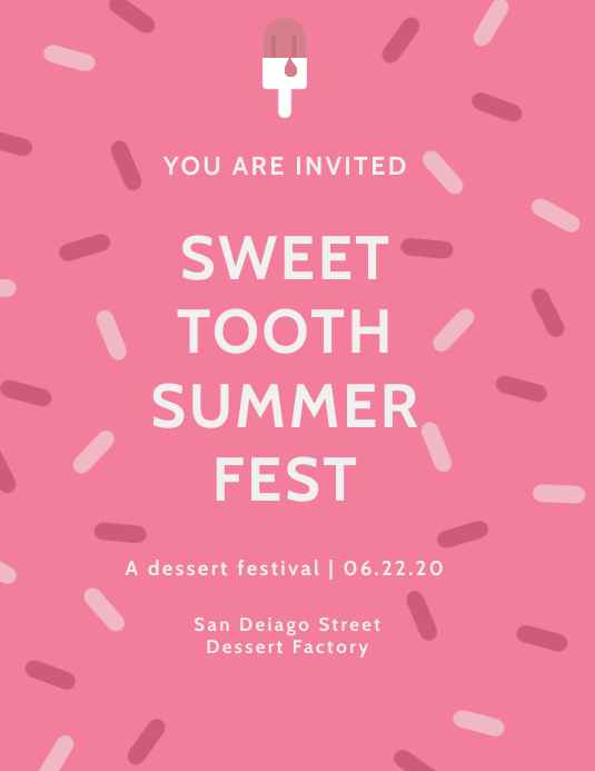 Sweet Tooth Summer Fest Flyer Template
