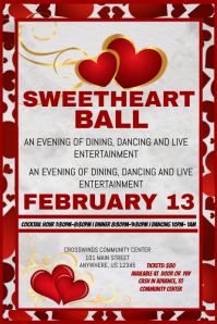 customizable design templates for sweetheart dance template