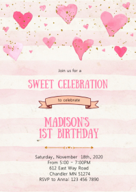 Sweetheart birthday party invitation