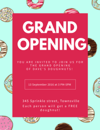 Sweets Shop Grand Opening Flyer Template