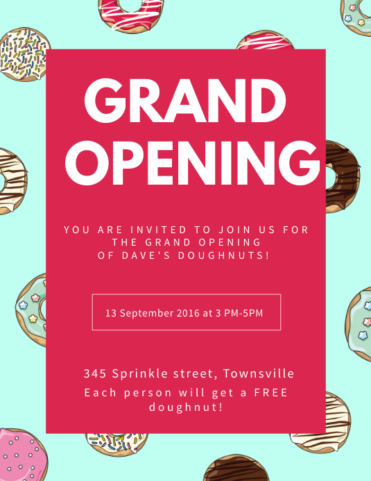 grand opening flyer template free Create Grand Opening Flyers In Minutes! | PosterMyWall