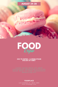 Sweets Snacks Baking Food Expo Flyer Template