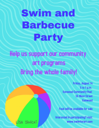 swim and barbecue fundraiser party