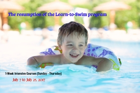Swim lessons Plakat template
