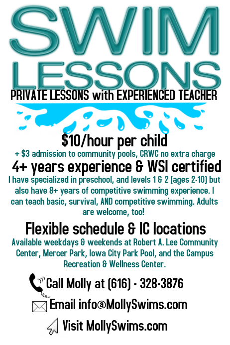 swim lessons poster template postermywall